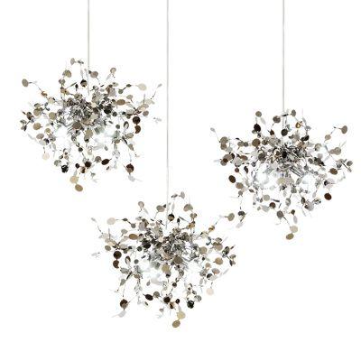 Pendant Light Argent Lighting Hand Made Stainless Steel Leaf Hanging Lamp for Living Room Bedroom Home Deor Lighting Hanglamp