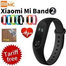 D'origine Xiaomi Mi Bande 2 de Remise En Forme Intelligente Bracelet Montre Bracelet Miband OLED Touchpad Sommeil Moniteur de Fréquence Cardiaque Mi Band2 Freeship