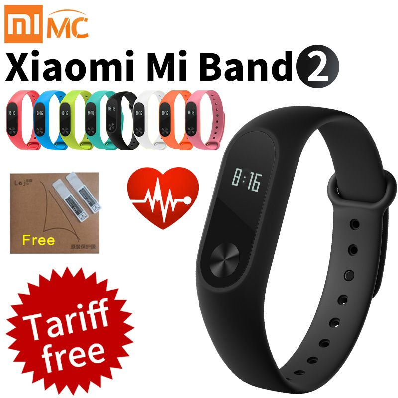 Original Xiaomi Mi Band 2 Smart Fitness Bracelet Watch Wristband Miband OLED Touchpad Sleep Monitor Heart Rate Mi Band2 Freeship