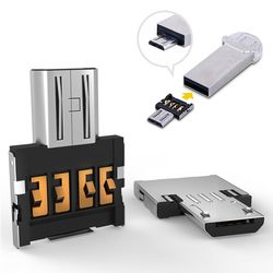 Micro USB Male to USB Female OTG Adapter Mini Micro USB 5pin OTG Adapter Connector for Cellphone/Tablet/USBCable/Flash Disk