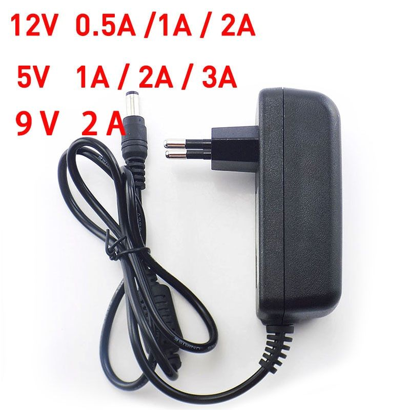 AC to DC Power Adapter 100-240V Supply Charger adapter 5V 12V 9V 1A 2A 3A 0.5A US EU Plug 5.5mm x 2.5mm for CCTV LED Strip Lamp