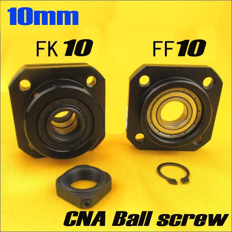 SFU1204 Kugelumlaufspindel Unterstützung 1 stücke FK10 und 1 stücke FF10 für 12mm 1204 kugelumlaufspindel ende unterstützung cnc