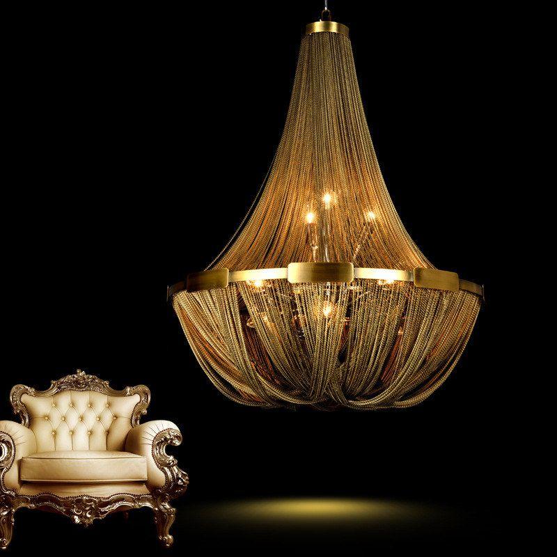 Post moderne kreative LOFT quaste kette wohnzimmer kronleuchter restaurant schlafzimmer lampe duplex haus villa Lampen beleuchtung