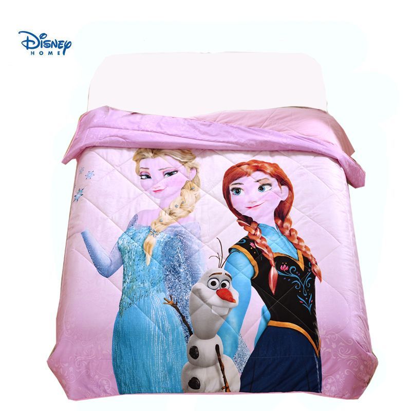 disney frozen princess girl bed cover 150*200cm 200*230cm Throws Blanket summer Thin Comforter quilted Quilt Beddings as Filler
