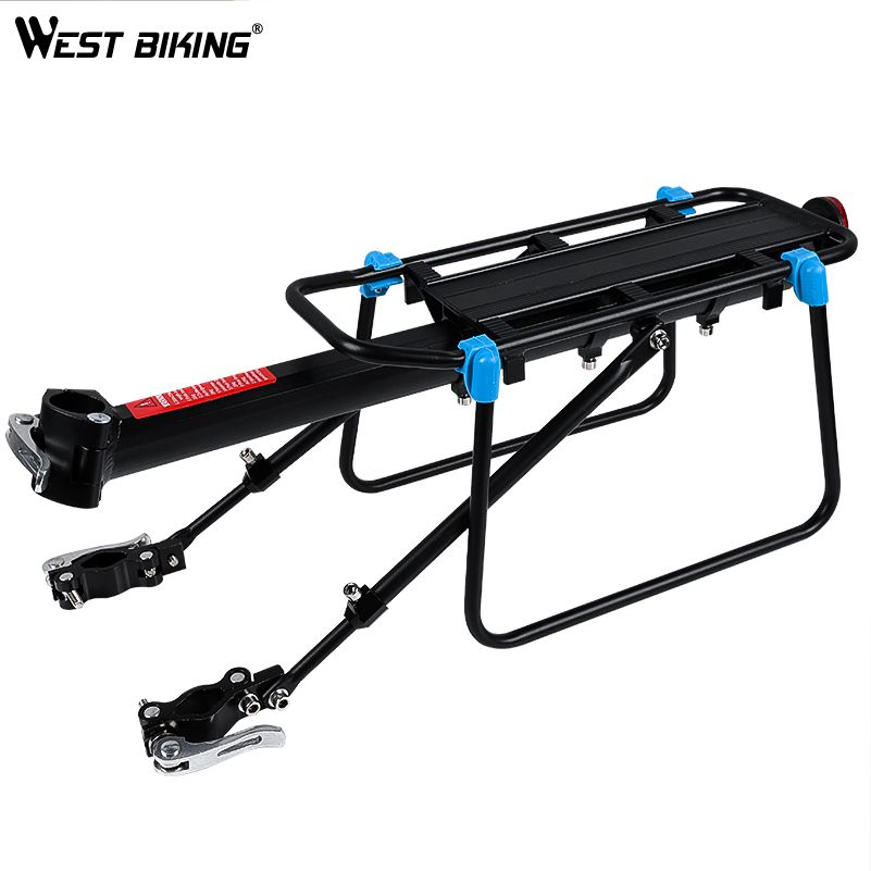 WEST BIKING Bicycle Luggage Carrier Cargo Rear Rack 20-29 <font><b>Inch</b></font> Bikes Install Tools Shelf Cycling Seatpost Bag Holder Stand Racks