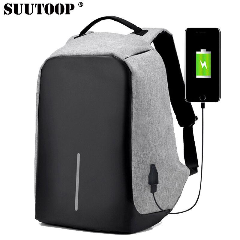 suutoop anti theft usb charging travel backpacks anti-theft security waterproof men business 15.6inch laptop computer school bag