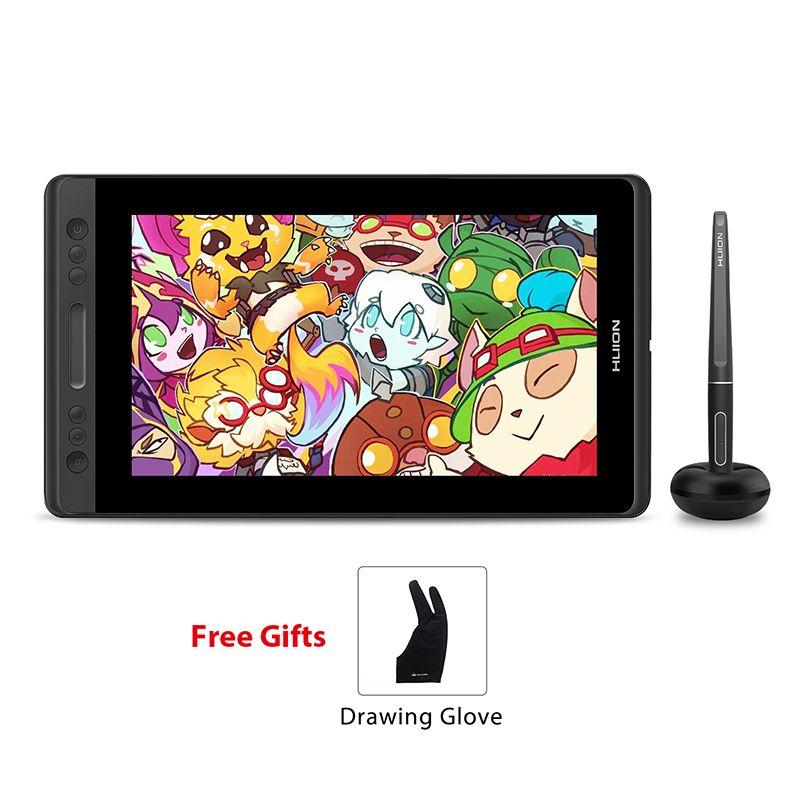 HUION KAMVAS Pro 13 GT-133 Pen Tablet Monitor Digital Tablet Battery-Free Pen Display Drawing Monitor with Tilt Func AG Glass