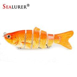 SEALURER 1PCS Lifelike Fishing Lure 6 Segment Swimbait  10cm 17g Isca Artificial Lures Trout Lure