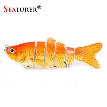 SEALURER 1PCS Lifelike Fishing Lure 6 Segment Swimbait  10cm 17g Isca Artificial Lures Trout Lure