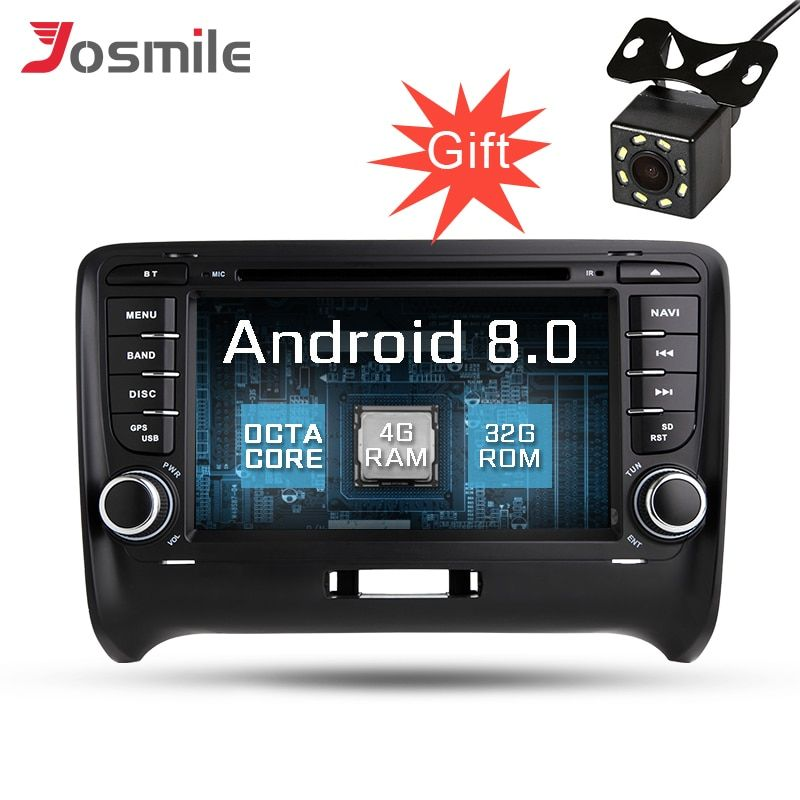 Android 8.0 Auto GPS Navigation Für AUDI TT 2006-2012 Radio Stereo Spiegel link WIFI Canbus OBD2 Multimedia DVD Player octa Core