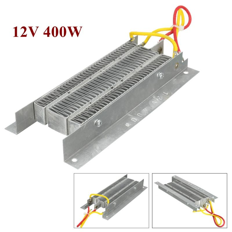 12 V 400 W PTC Céramique Réchauffeur D'air Électrique chauffe Thermostatique Isolation Chauffage Élément Kit Rapidement Sécurité Argenté