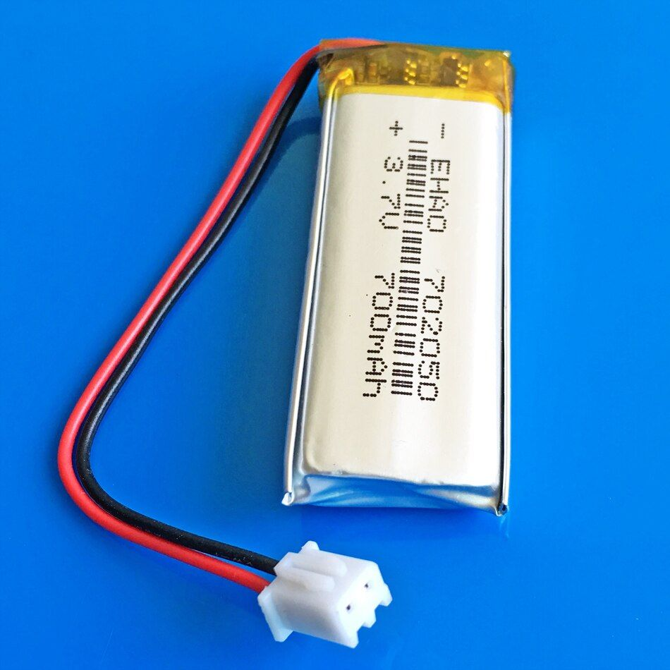 3.7V 700mAh lithium polymer lipo Rechargeable battery JST XH 2.54mm 2pin for MP3 GPS DVD bluetooth recorder e-book camera 702050