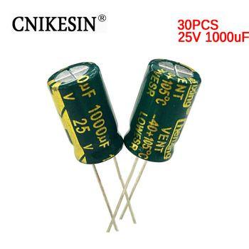 CNIKESIN 30 PCS 25V1000uf Faible ESR SANYO Condensateur Électrolytique En Aluminium 10X16mm 1000 UF 25 V Haute Fréquence LCD carte mère