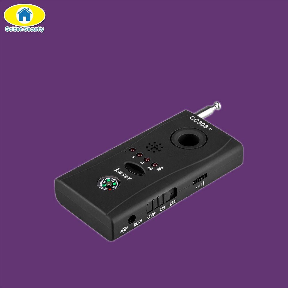 Sécurité dorée sans fil Anti-espion détecteur de fréquence complète détecteur Laser boussole pour la sécurité personnelle de la vie privée détecteur de caméra GSM