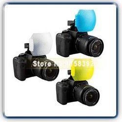 Free Shipping New 3pcs Pop up Flash Diffuser with one Bracket for Can&n 650D 600D 550D Nik&n D7000 D5100 D90 Fujifilm Olympus