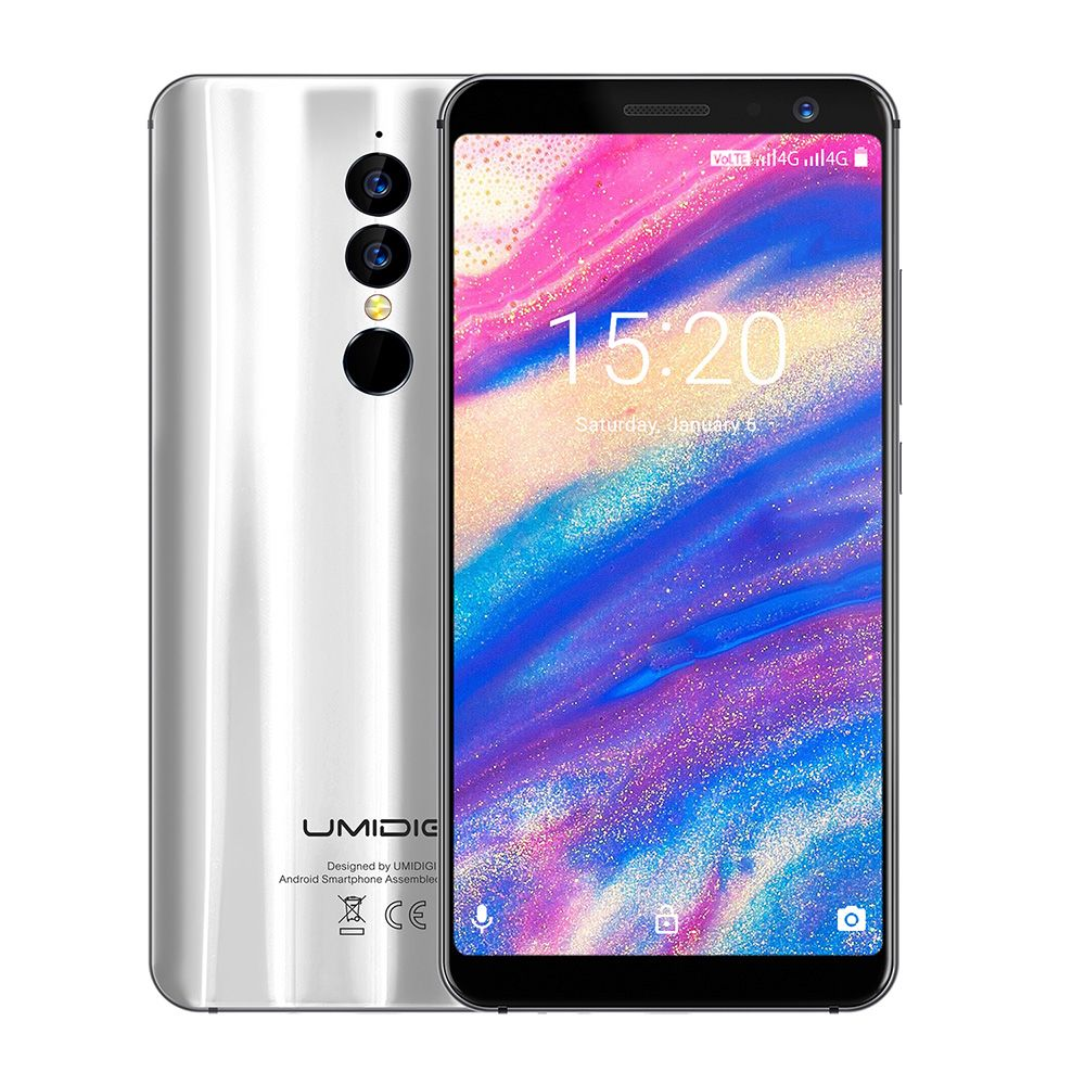 UMIDIGI A1 Pro 4G Smartphone 5.5inch Android 8.1 Phablet MTK6739 Quad Core 1.5GHz 3GB RAM 16GB ROM Dual Rear Cameras Fingerprint