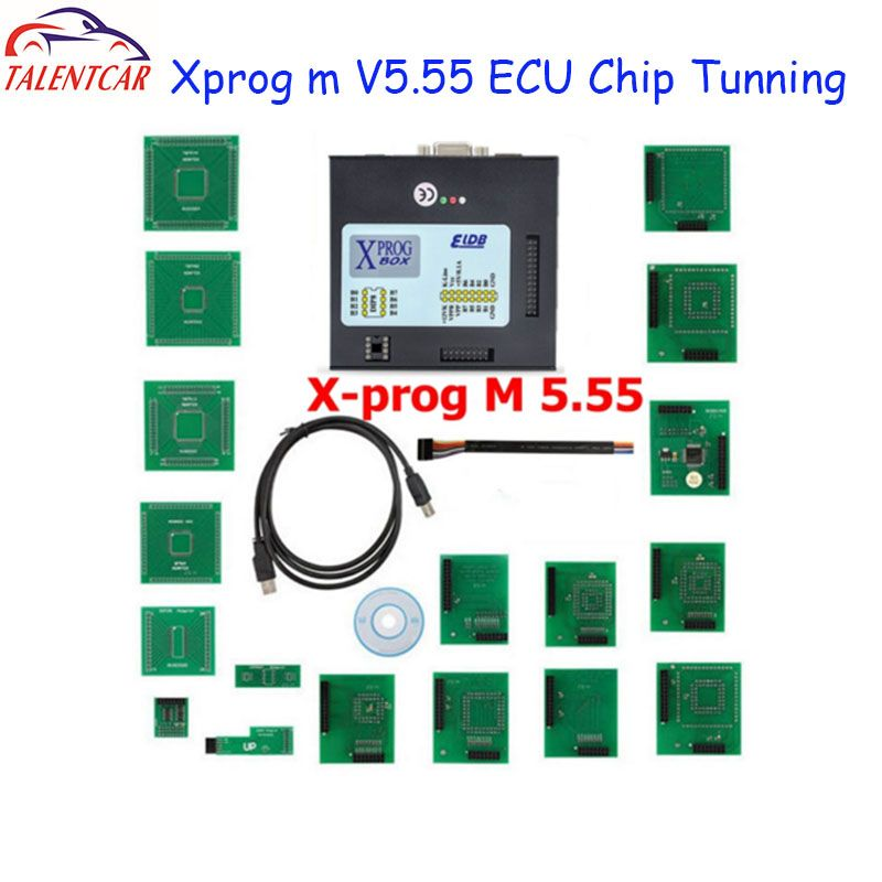 Top Sale XPROG-M X Prog M Box V5.55 Auto ECU Chip Tuning Programmer Xprogm Xprog 5.55 Xprog5.55 better than Xprog5.50 X-prog 5.0
