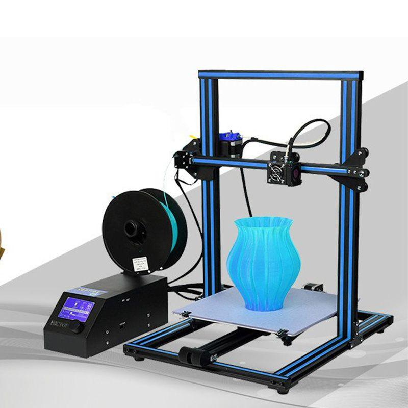 CR-10 3d-drucker Kit Große drucker Größe 300*300*400mm Billig 3D drucker mit 200g Filament + brutstätte + 8G SD karte als geschenk Creality 3D