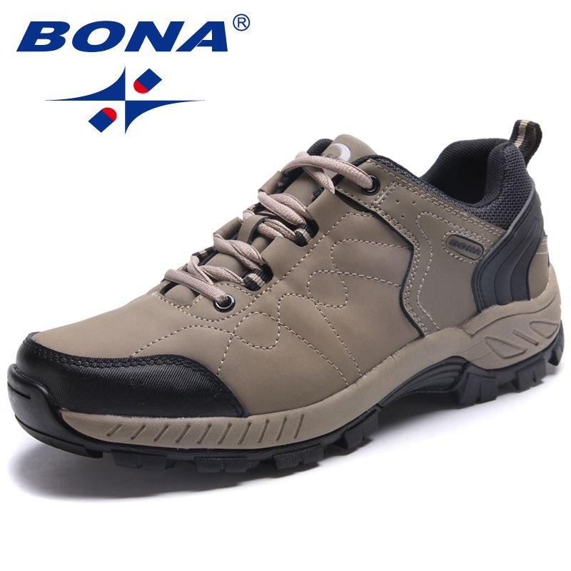 BONA New Popular Style Men Hiking Shoes Lace Up Men Athletic Shoes Outdoor Jogging Trekking Sneakers Comfortable Free Shipping