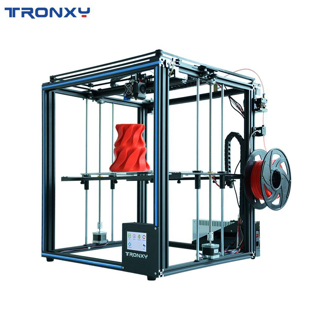 2019 verbesserte X5SA 3D Drucker DIY Kit 330*330mm Brutstätte Lebenslauf Stromausfall Druck Filament Sensor CoreXY 3d drucker TRONXY