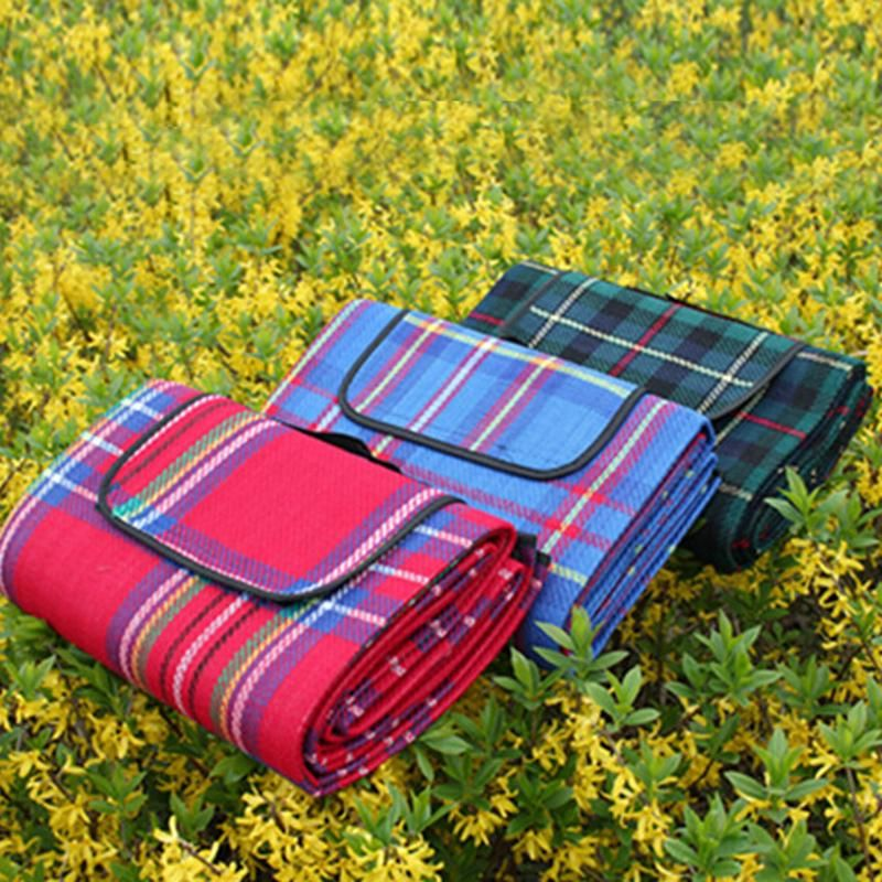 150x200cm <font><b>Foldable</b></font> Camping Mat Plaid Picnic Beach Blanket Climb Outdoor Waterproof Mat Blanket Cover for Picnic Beach