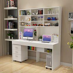 Escritorio de la computadora con un simple moderno escritorio estantería dormitorio escritorio interna combinada estudiantes