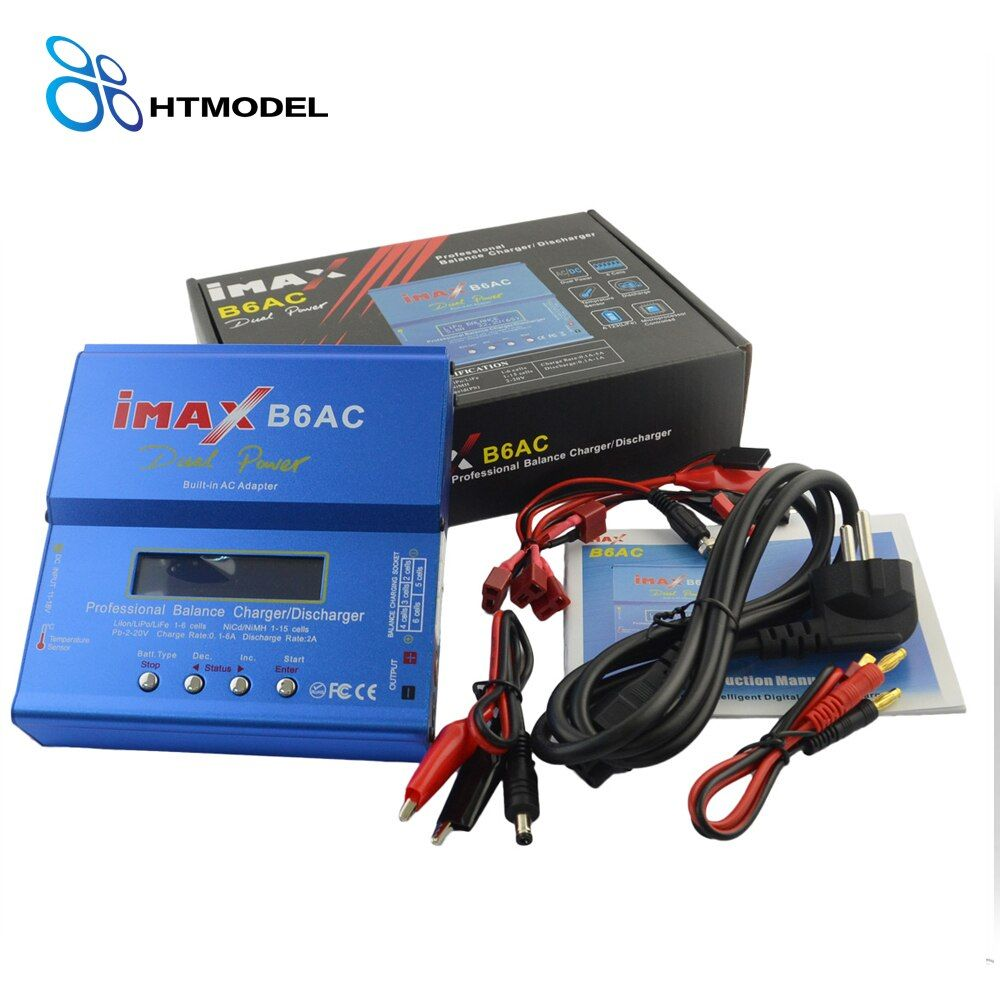HTRC iMAX B6 AC Lipo Battery Balance Charger iMAX B6AC 80W 6A Dual Power Lipo Nimh Nicd Battery Balance Charger Discharger