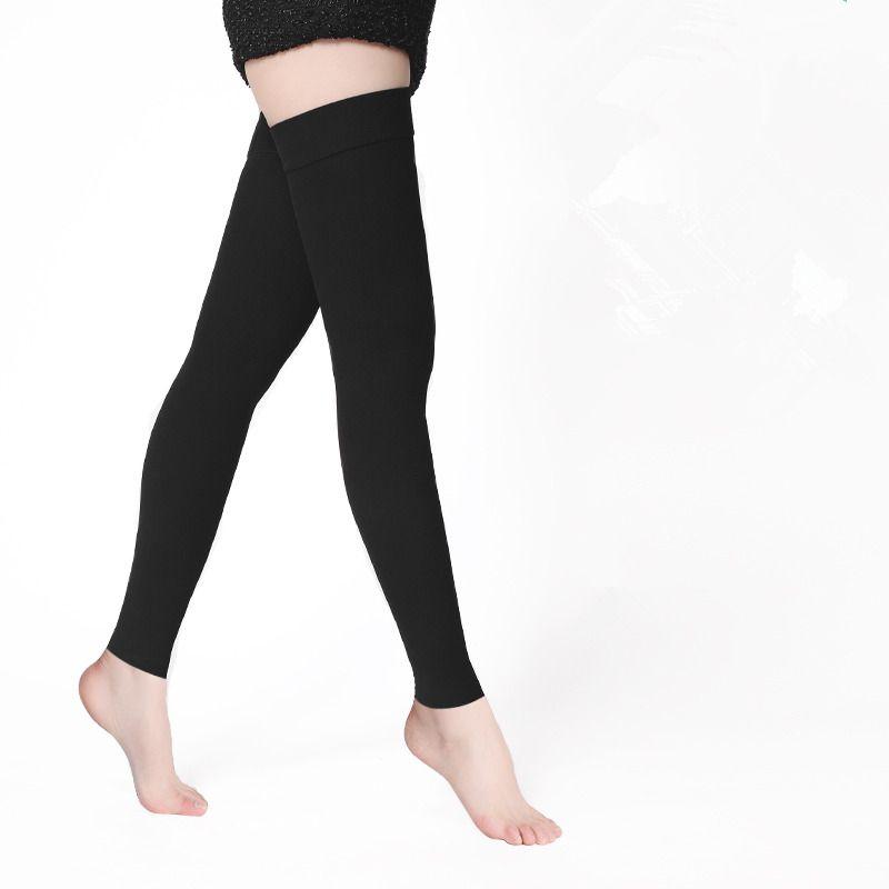 Одна пара Спецодежда медицинская сжатия Чулки для женщин варикозное расширение вен 20-30mmhg Давление высоком выше колена сжатия Чулки для жен...