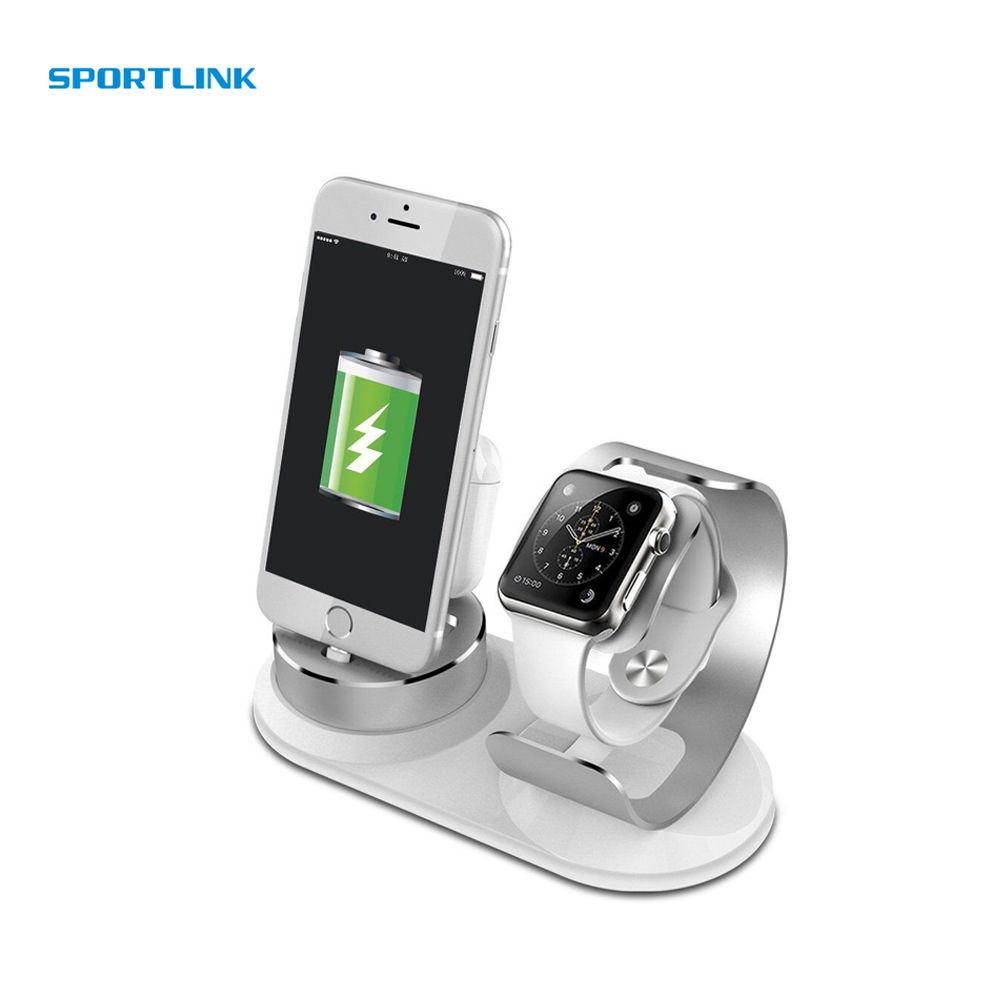 DIY 3 in 1 pop socket Charger dock phone Holder For Apple Watch stand Charging base for iPhone x Charger station for Airpods
