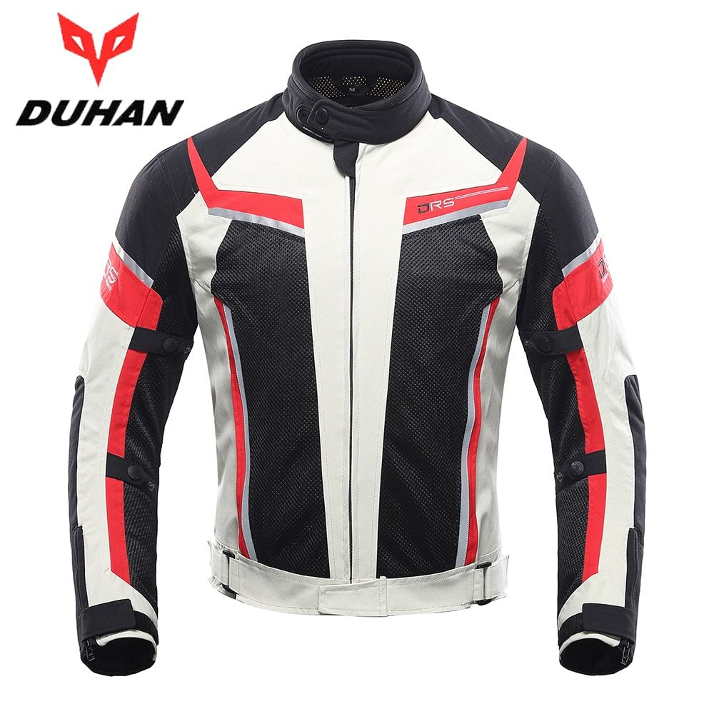 DUHAN Motorcycle Jacket Summer Breathable Men's Motocross Off-Road Jacket Mesh Moto Racing Jacket Motorcycle Protective Clothing