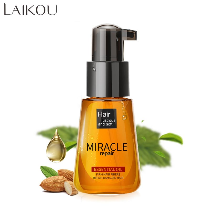 LAIKOU newest Morocco Argan Oil Pure Brand Multi-functional Hair Care Pure Essential Oil For Dry Moroccan Scalp Korean Cosmetic