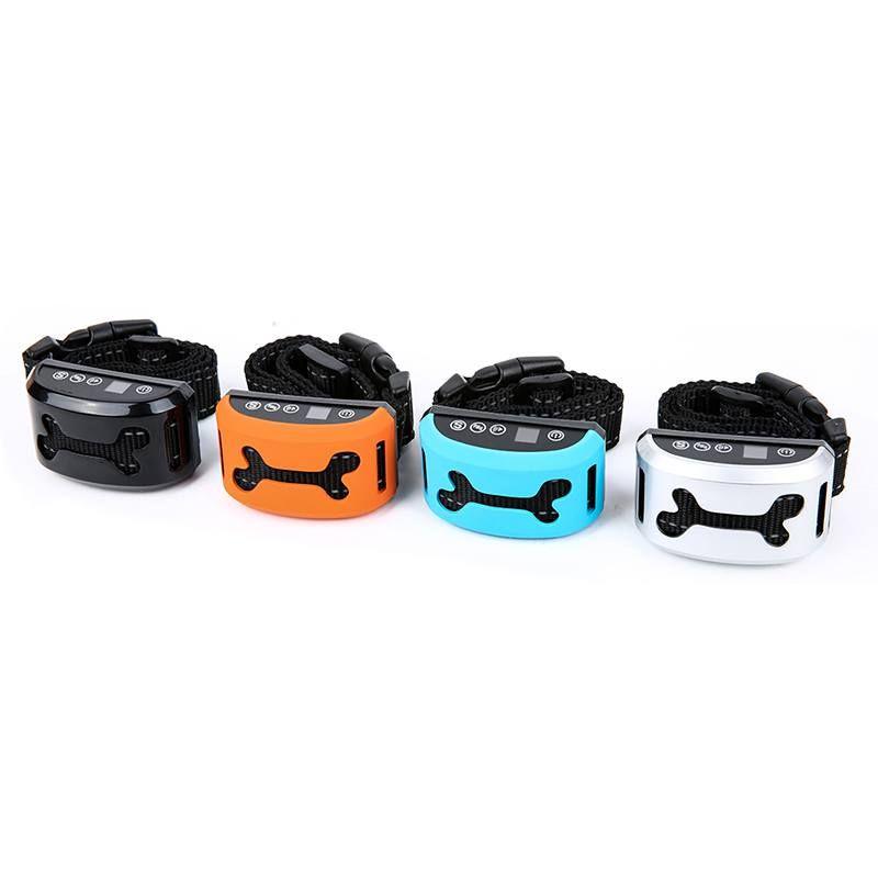 Waterproof Anti Bark Collar Pet Dog Adjustable 7 Sensitivity <font><b>Levels</b></font> Vibration Stop Barking Dog Training Collars