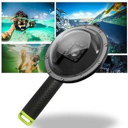 XTGP258 Dome Port Lens Cover Waterproof Swimming Driving Camera Lens Box Sealing Shield Underwater Shoot for GoPro Hero3+/4