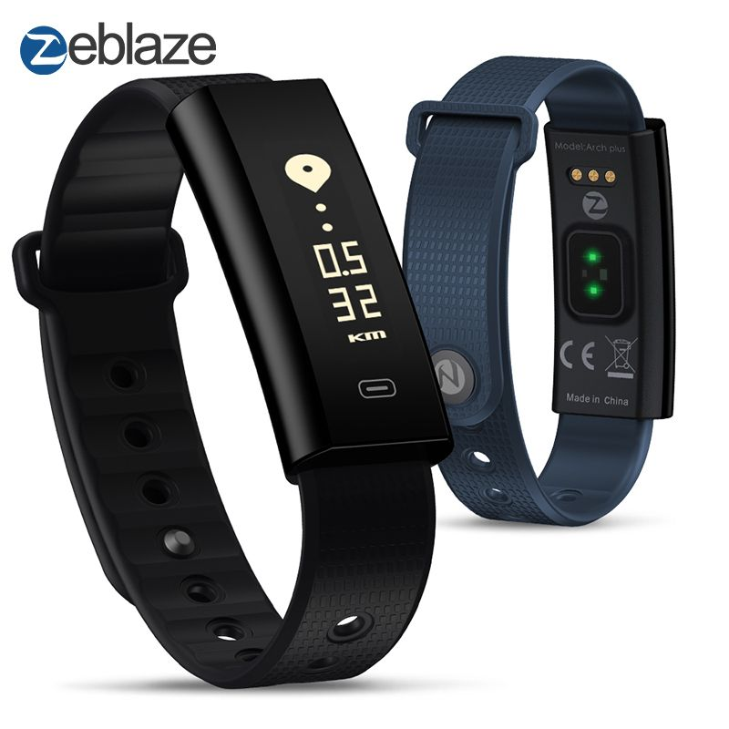 Zeblaze Arch Plus Continuous Heart Rate+Fitness Wristband Long Battery Life & Quick Recharge IP67 Waterproof For Android and IOS