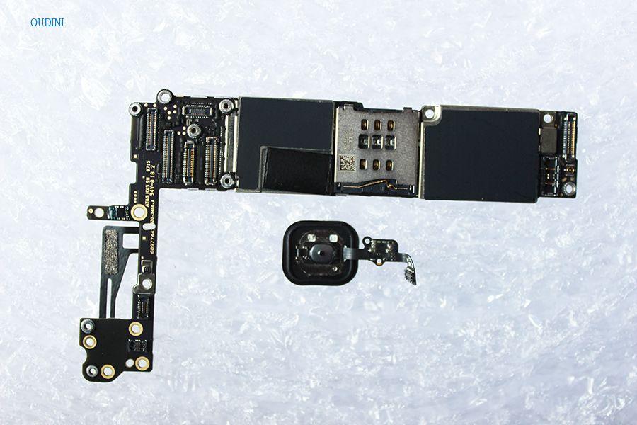 Oudini ENTSPERRT 64 gb für iphone 6 Motherboard haben Fingerabdruck, Original Entsperrt für iphone 6 Mainboard mit Touch ID 100% test