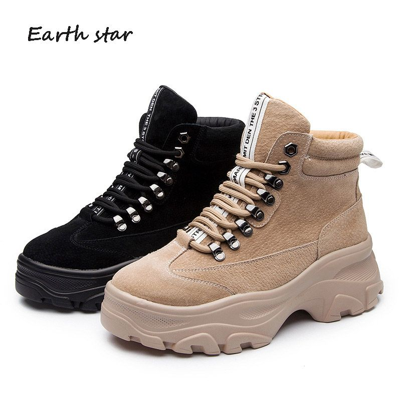zapatos de mujer Shoes Women Fashion Brand Martin Boots Creoss-tied Lady chaussure Real Leather botas Female footware Black Boot