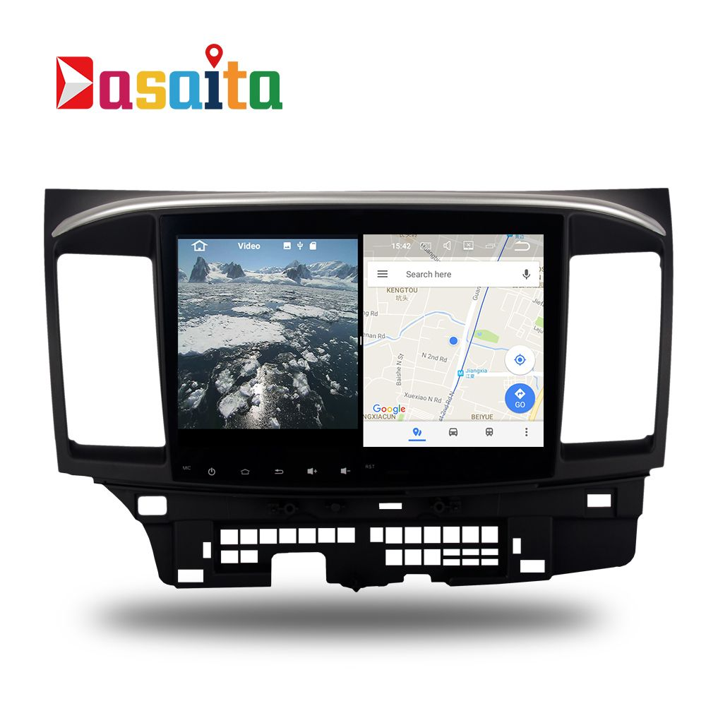 Auto Android 7.1 GPS Navi für Mitsubishi lancer/EX/EVO/10 autoradio navigation kopfeinheit multimedia 2 Gb + 16 Gb RDS HDMI ausgang
