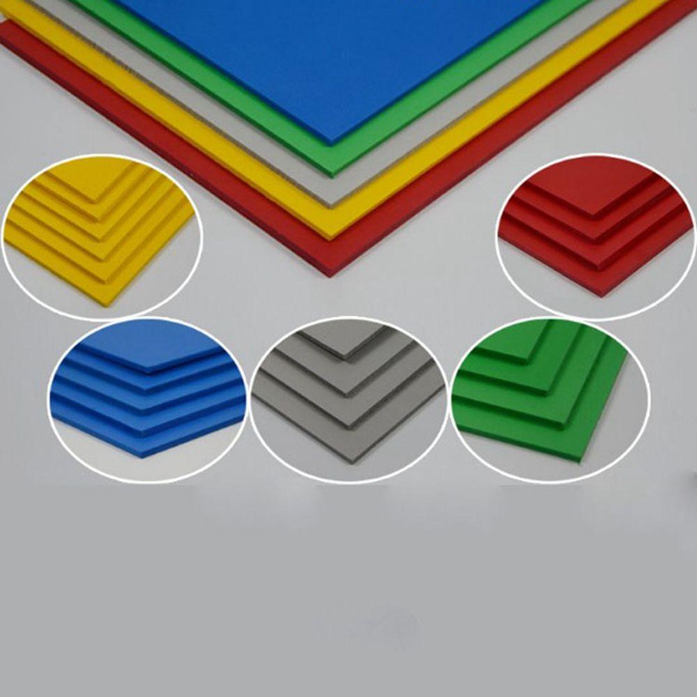 Teraysun 2 pcs/lot 300x400mm panneau de mousse de PVC en plastique plat feuille conseil 5 couleurs feuille de mousse modèle plaque