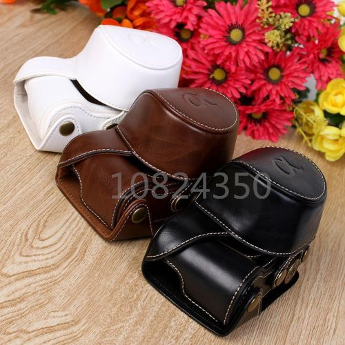 Leather Camera Case For Sony Alpha A5100 A5000 16-50mm Lens Retro Vintage Bag