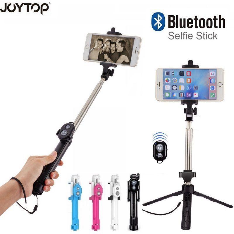 JOYTOP 3 en 1 Bluetooth Selfie bâton trépied extensible monopode universel pour iPhone XR X 7 6 s Plus pour Samsung pour Huawei trépied