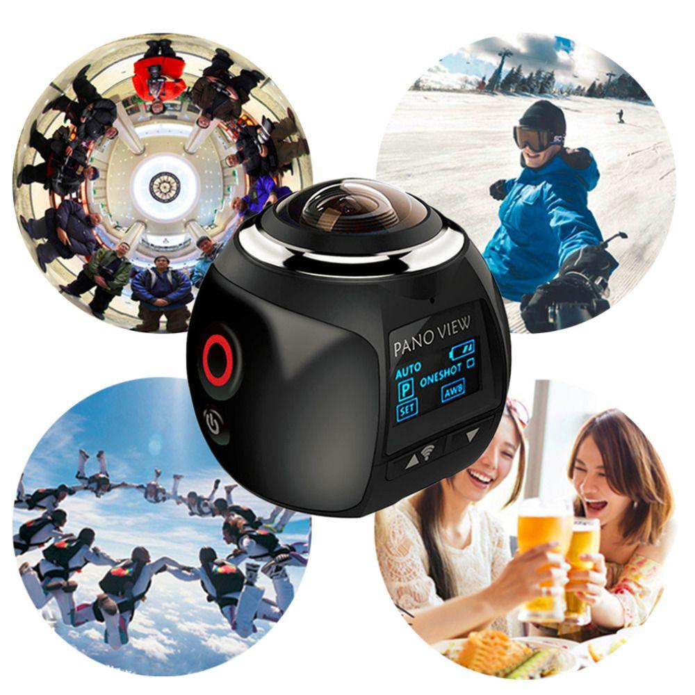 360 Action Camera Wifi Mini Panoramic Camera 2448*2448 Ultra HD Panorama Camera 360 Degree Waterproof Sport Driving VR Camera