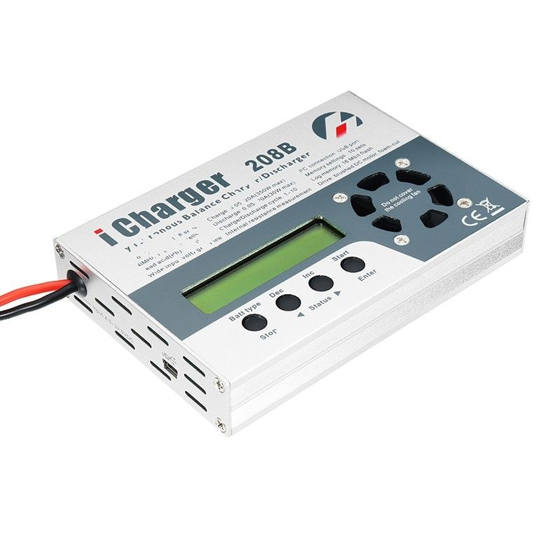 High Quality iCharger 208B 350W 20A 1-8S DC Lipo Battery Balance Charger For RC Models Battery Charging Spare Parts