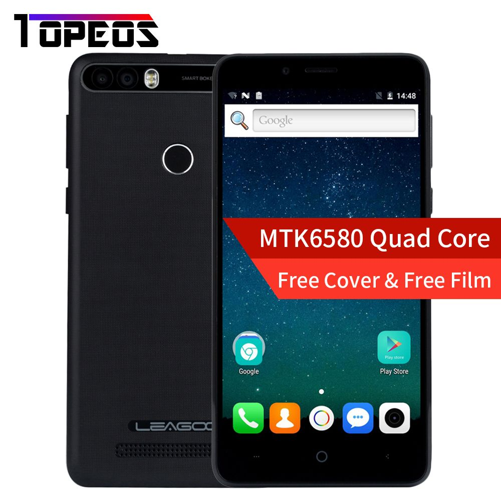 Leagoo KIICAA POWER Smartphone 5.0 INCH Android 7.0 MTK6580 Quad Core 2GB+16GB Fingerprint 8MP 4000mah WCDMA 3G Mobile Phone