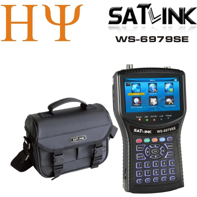 Original satlink ws-6979se dvb-s2 dvb-t2 mpeg4 hd combo spektrum satellite meter finder satlink ws6979se meter