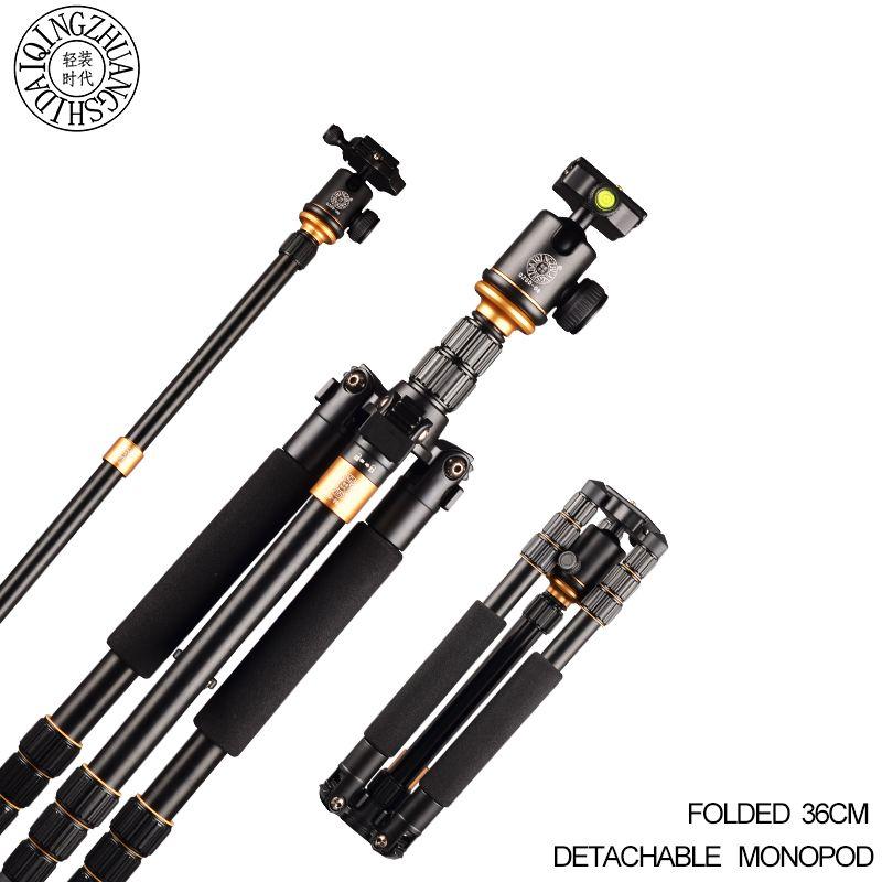 Q999S Travel 36cm Aluminum Professional Camera Tripod with Ball head Monopod Q9S Stand Kit For DSLR SLR Better Than Q111