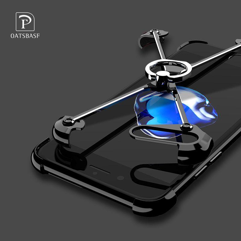 Oatsbasf x Форма чехол для iPhone 6S Дело личность В виде ракушки для iphone 6S плюс 7 плюс металл границы металлический бампер кольцо держатель случаях