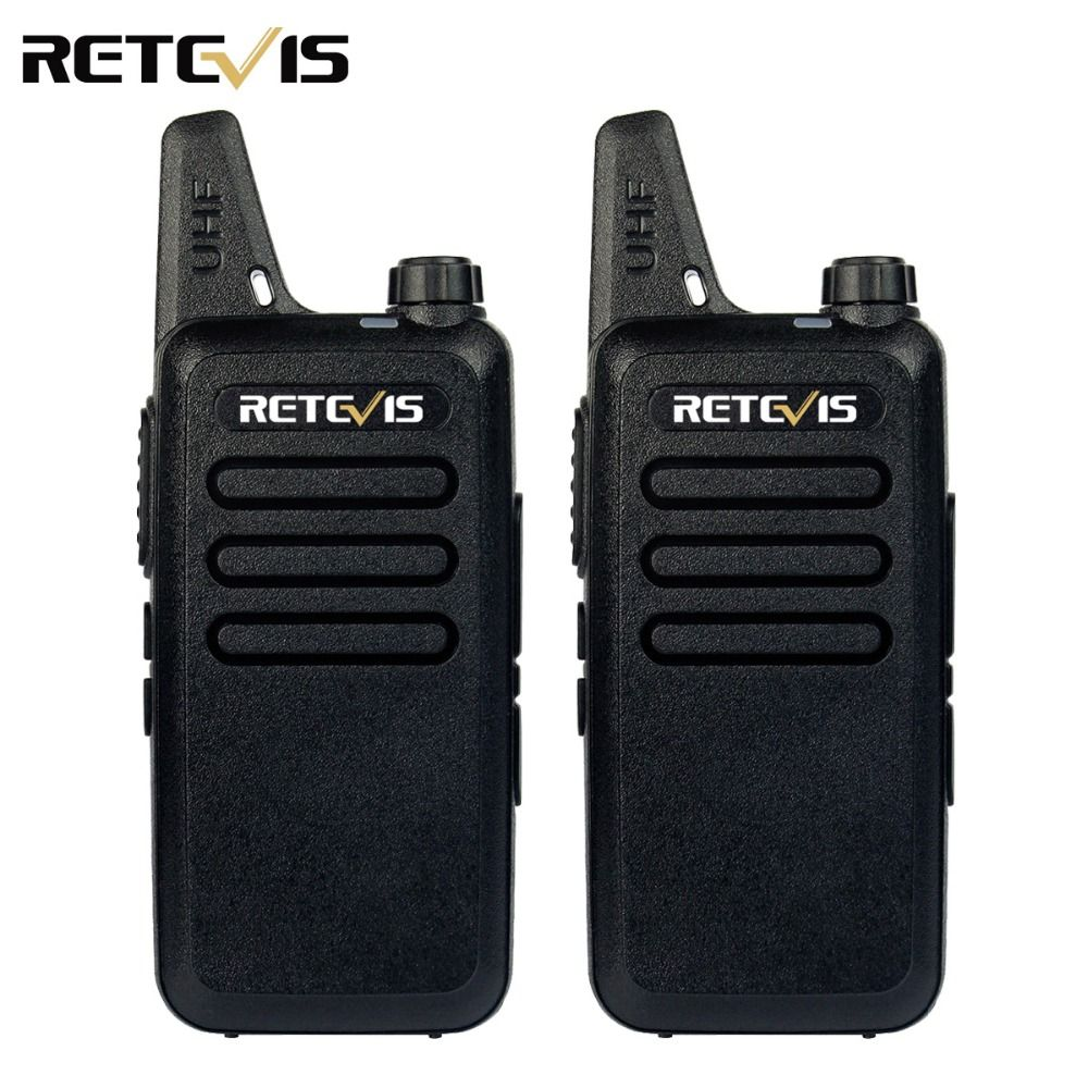 2pcs Mini Walkie Talkie Retevis RT22 2W UHF 400-480MHz 16CH CTCSS/DCS TOT VOX Scan Squelch Two Way Radio Communicator A9121A