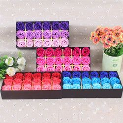 Surprise gift 18Pcs Rose Flower Heart Scented Petal Bath Body Soap Wedding Party Gift Creative Valentine's Day gift  X@ dropship