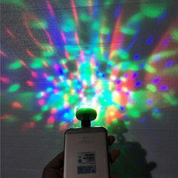 Lumiere RGB LED Music Stage Lights USB Disco Club DJ Light Show Bulb Projector Crystal Magic Ball dj effect lighting Small magic
