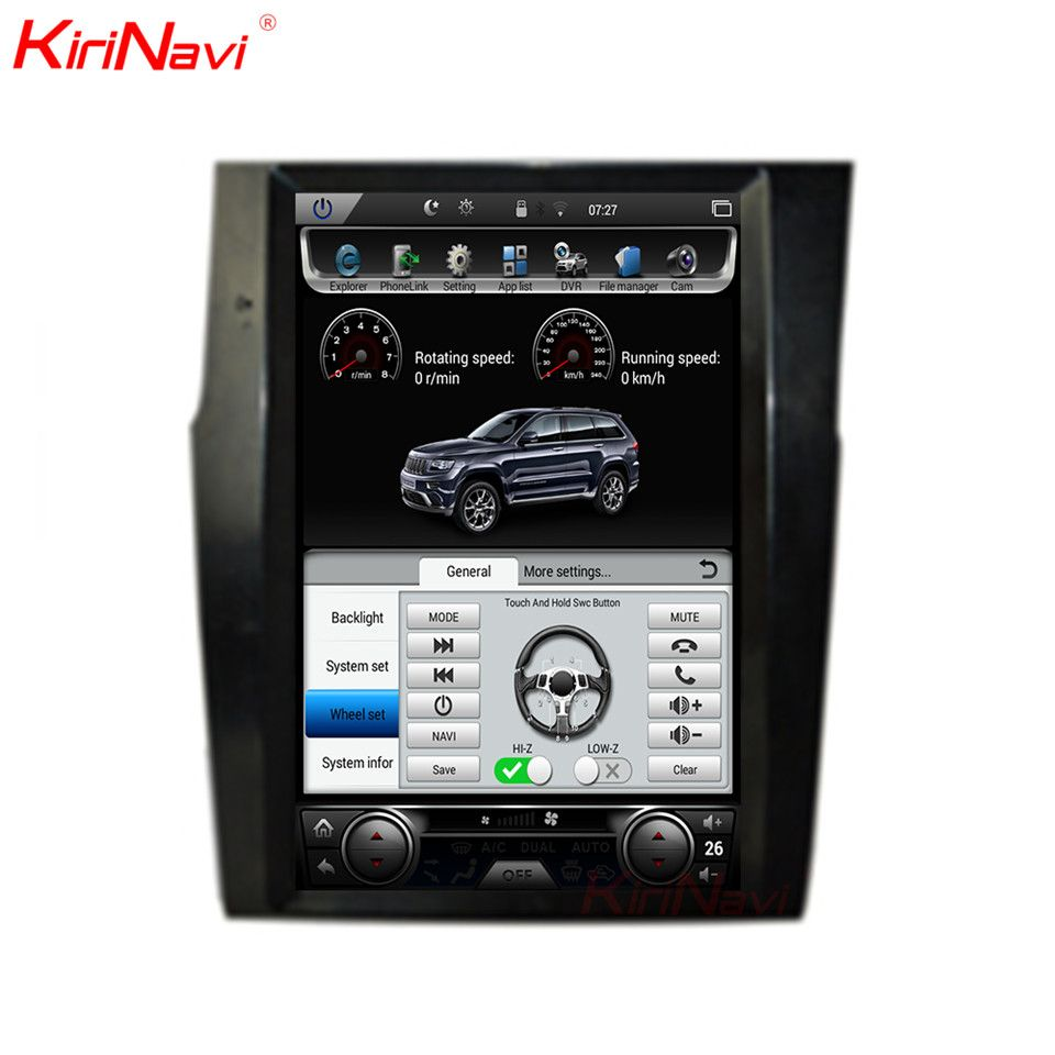 KiriNavi Vertical Screen Tesla Style Android 6.0 12.1 Inch Car Radio For Citroen C4 2 Din Gps Bluetooth Car Multimedia Player